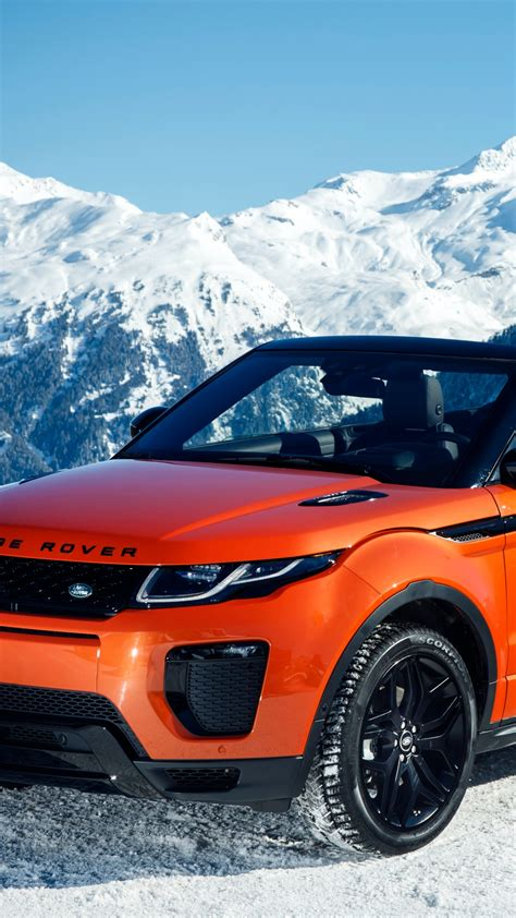 wallpaper range rover evoque convertible cabriolet orange cars bikes