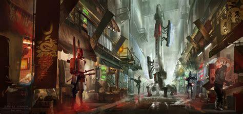 design art market cyberpunk market patrol by dsorokin755 on deviantart