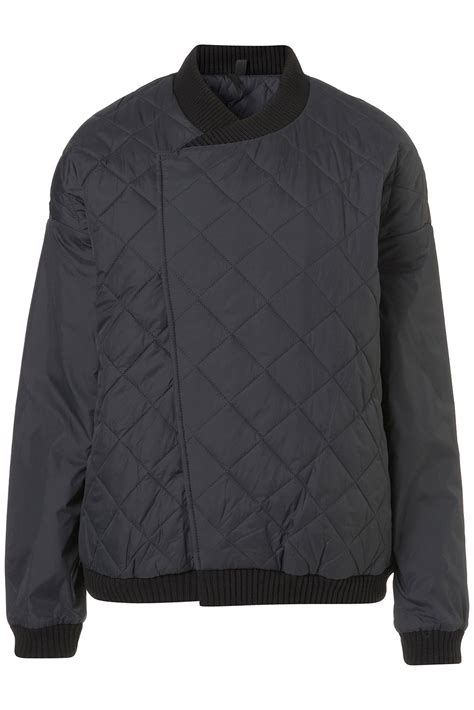 Topshop Quilted Bomber Jacket by Topshop Quilted Bomber Jacket By Boutique The Style