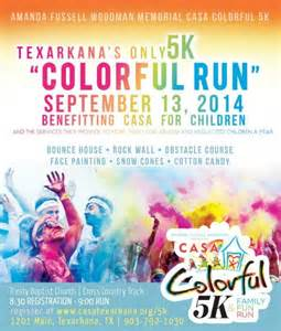 5k flyer template casa colorful 5k and family run