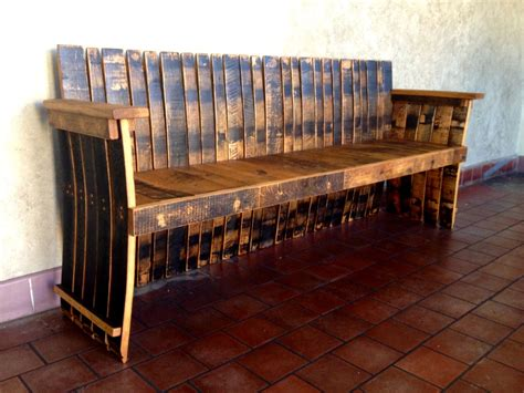 whiskey barrel bench bourbon barrel furniture archives hungarian workshop