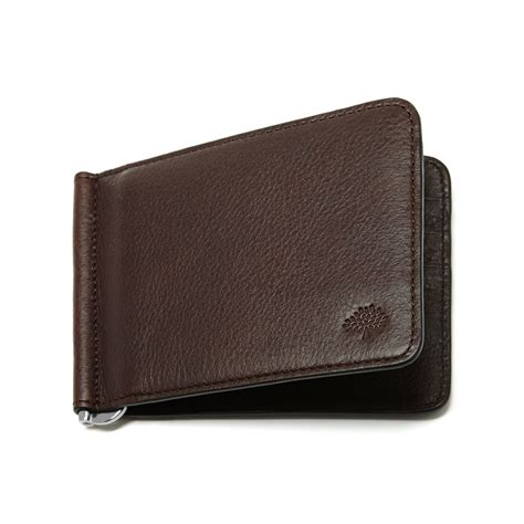 Wallet Brown mulberry money clip wallet in brown for lyst
