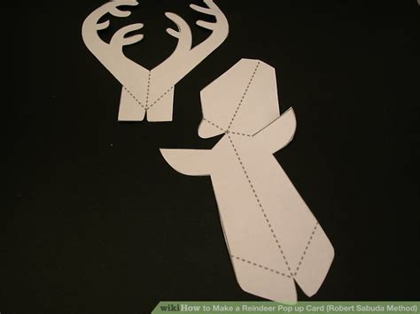 Reindeer Pop Up Card Template by How To Make A Reindeer Pop Up Card Robert Sabuda Method