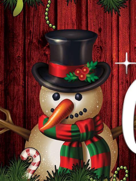 snowman merry christmas wallpaper freechristmaswallpapersnet