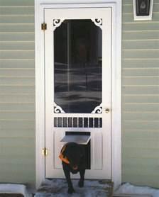 pet door wisteria screen door with p3 pet door