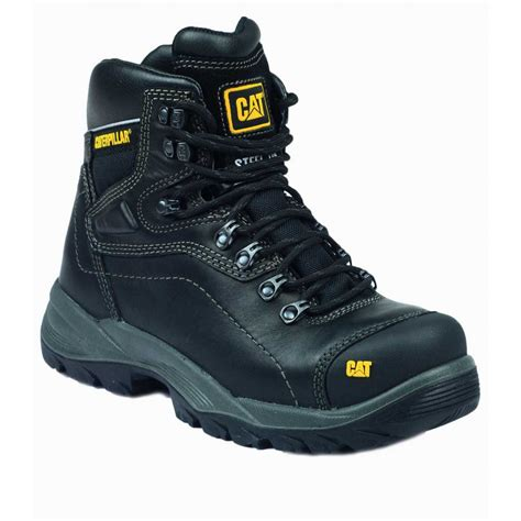Caterpillar Frogskin Safety Boot Black 1 caterpillar diagnostic black safety boots charnwood