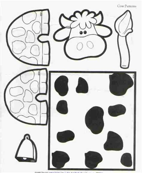 Cow Paper Craft - c is for cow toilet paper roll cow craft template c
