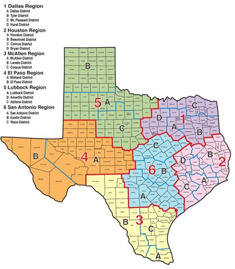 city map of texas by regions txdps texas dps regional boundaries