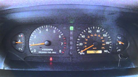 1996 toyota avalon dashboard warning lights 1999 avalon cluster youtube
