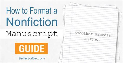 layout for book manuscript how to format a nonfiction manuscript