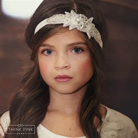 baby headband rhinestone headbandflower headband new flower rhinestone headband for hair accessories