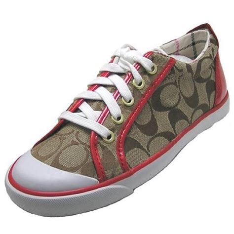 couch sneakers 88 off coach shoes red brown coach sneakers from