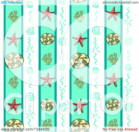 Nbc Shells Out Money For Royalty by Clipart Of A Seamless Background Pattern Of Starfish