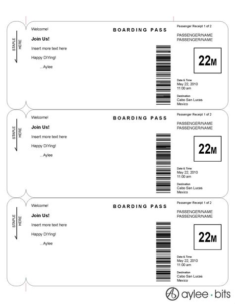 Boarding Card Template by Boarding Pass Invitation Template By Ayleebits Lucas