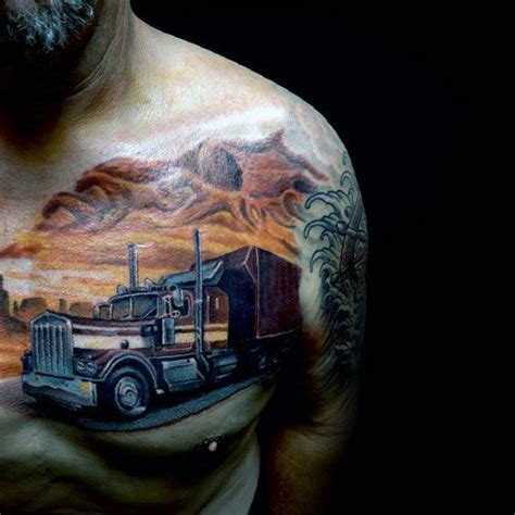 semi truck tattoo designs best 25 truck ideas on rod
