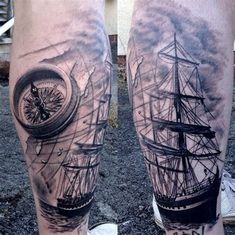 grey ink tattoo map images designs