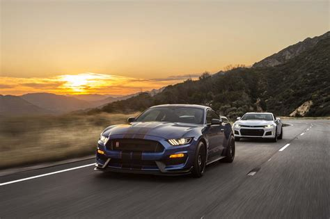 shelby chevrolet shelby mustang gt350r vs camaro zl1 a battle of the ages
