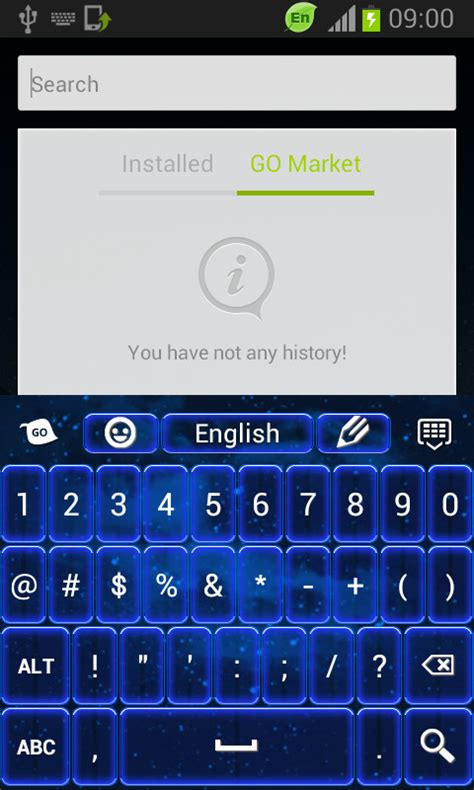 color keyboard free color keyboard neon blue free android keyboard