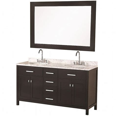 Home Depot Design Vanity | design element london 61 in w x 22 in d double vanity in