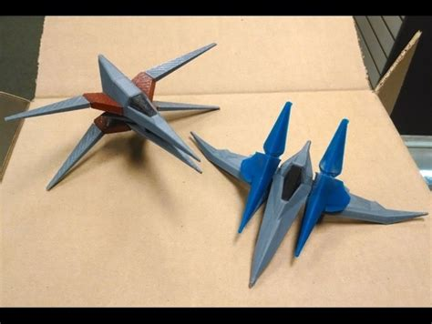 Origami Arwing - 25 gamers who used their 3d printers to their true