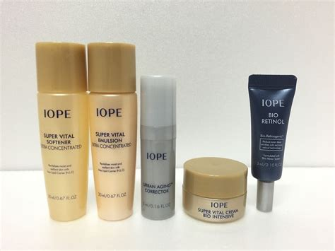 Iope Bio Retinol Special Trial Kit iope bio anti aging trial kit 5 items trials skin