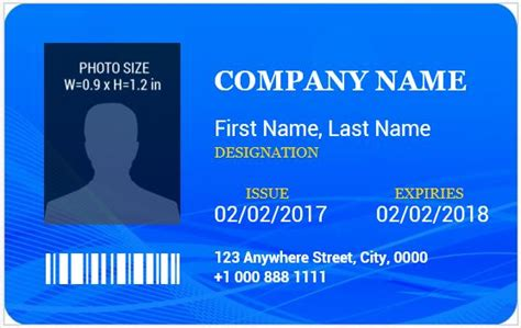 identity card template word ms word photo id badge templates for all professionals