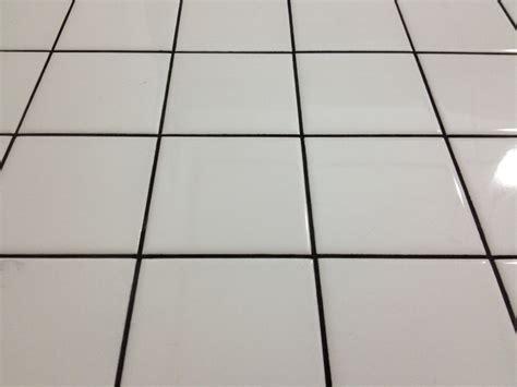 white floor tile with black grout house stuff pinterest