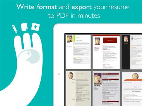 resume designer pro 2 0 features new styles icloud syncing and more appadvice