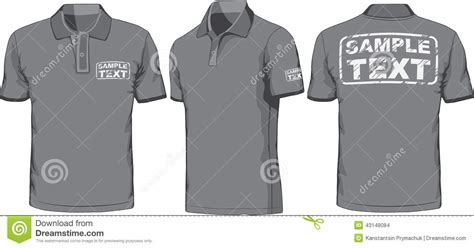 Kaos 3d Black Card front back and side views of polo shirt vector stock