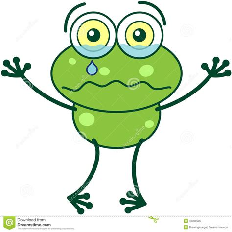 imagenes de ranas tristes green frog crying and feeling sad stock vector image