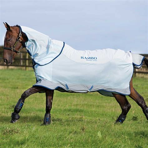 rambo lightweight turnout rug horseware rambo summer series softshell mesh turnout fly rug lite 0g all sizes