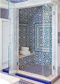 mosaic bathroom blue moroccan mosaic tile bathroom in cape cod