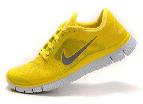 Nike Free Running Yellow nike free run 3 shield nike running shoes yellow gray