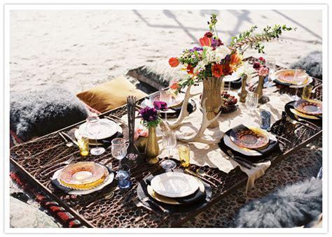 Gourmet Galley: Boho Beach Wedding Inspiration