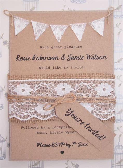 bunting wedding invitations diy best 25 wedding invites lace ideas on diy
