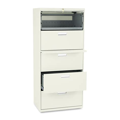 hon file cabinet parts hon 600 series five drawer lateral file 30w x19 1 4d putty home furniture home office