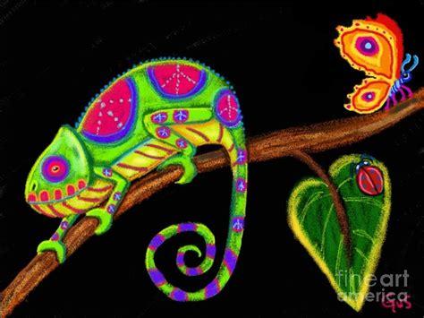 Draw Plans Online chameleon and ladybug digital art by nick gustafson