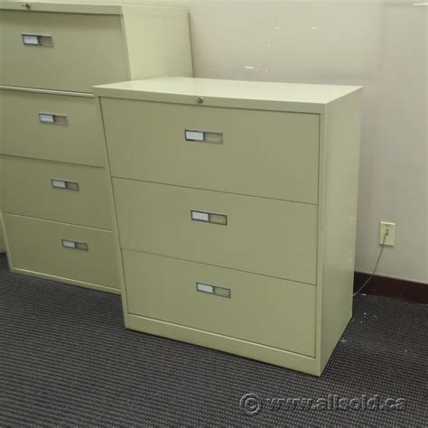 Locking Lateral File Cabinet Beige 3 Drawer Lateral File Cabinet Locking Allsold Ca Buy Sell Used Office Furniture Calgary