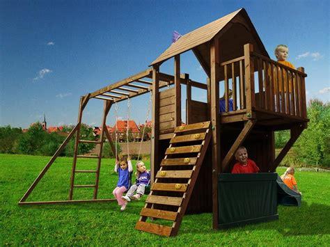 swings slides and climbing frames dunster house balconyfort searcher outdoor wooden climbing