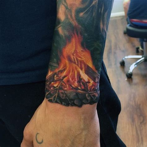 tattoo flames wrist top 60 best tattoos for inferno of designs