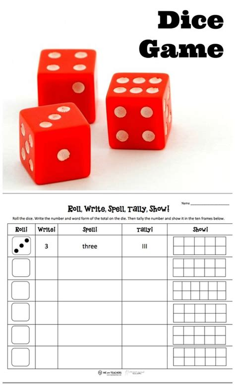 printable addition dice games number sense dice games and dice on pinterest