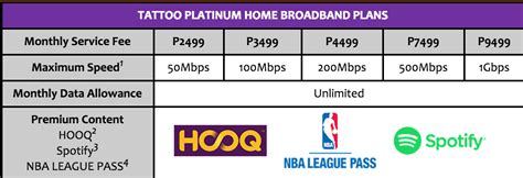 the new globe platinum home broadband plans