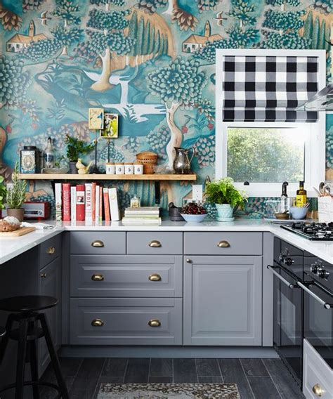 colorful wallpaper for kitchen 25 wallpaper kitchen backsplashes with pros and cons