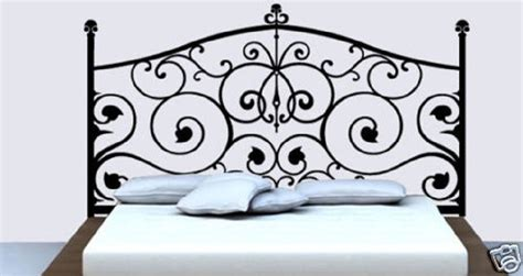 wall decal headboards wall decor decal sticker removable vinyl headboard a02 ebay