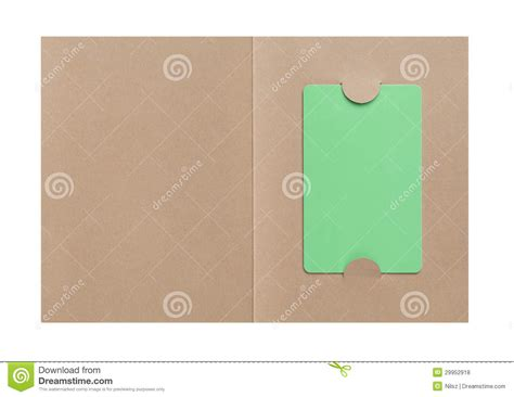 Paper Cover - gift card in paper cover royalty free stock photos image