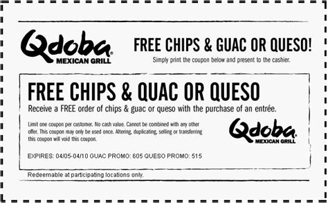 Snap Kitchen Coupon by Qdoba Coupon Code Mega Deals And Coupons