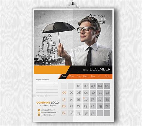 24 best business calendar templates 2015 sles free