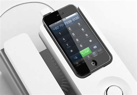 cool gadgets desk phone dock for the iphone