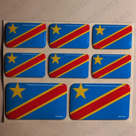 3d Epoxy Aufkleber by Kfz Aufkleber Demokratische Republik Kongo 3d Flagge Fahne