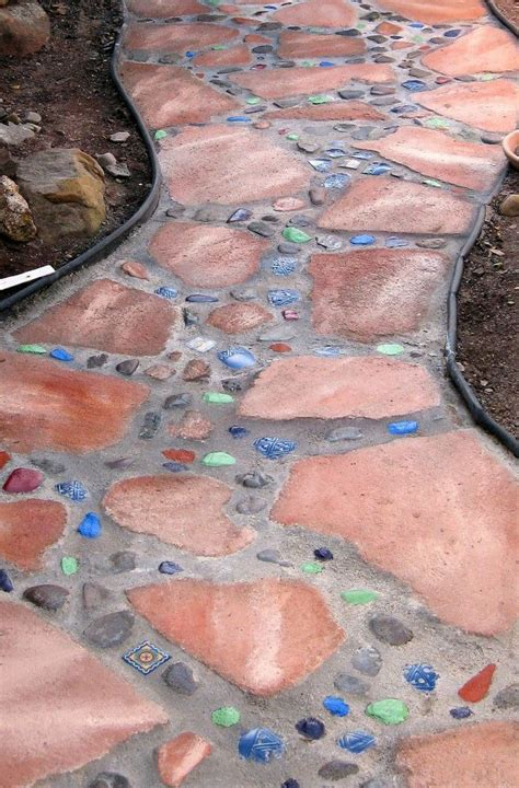 mosaic walkway mosaic walkway mosaic garden outdoor